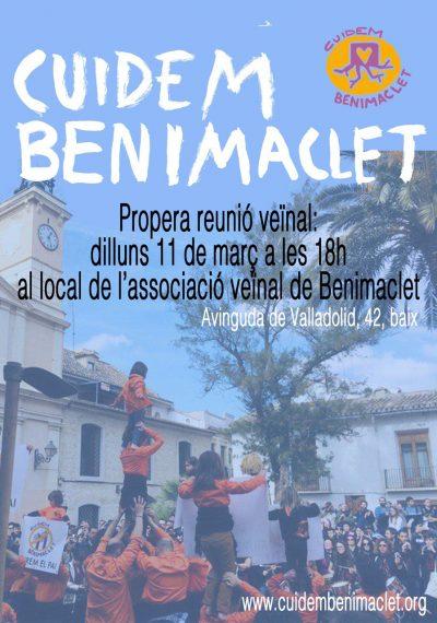 cuidem benimaclet - reunio 2019